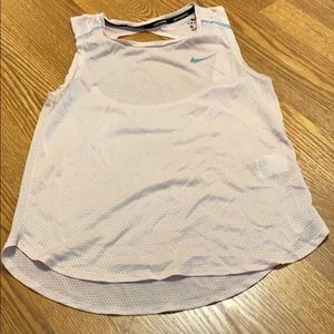 NIKE running tank. Open back. Size S. PINK.